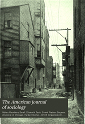 The American Journal of Sociology: Volume 18