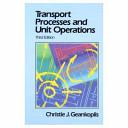 Transport Processes and Unit Operations PDF