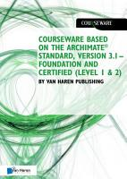 Courseware based on The Archimate   Standard  Version 3 1     Foundation and Certified  Level 1   2  by Van Haren Publishing 9789401806367 PDF