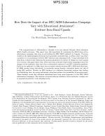How Does the Impact of an HIV/AIDS Information Campaign Vary with Educational Attainment?