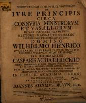 Diss. iuris publici universalis de iure principis circa connubia ministrorum et vasallorum