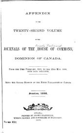 Journals of the House of Commons of the Dominion of Canada: Volume 22, Issue 3
