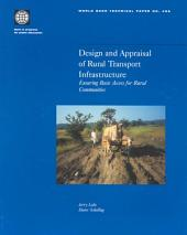 Design and Appraisal of Rural Transport Infrastructure: Ensuring Basic Access for Rural Communities, Volumes 23-496