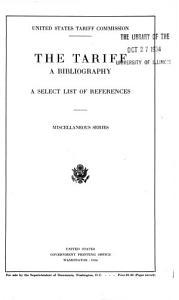 The Tariff PDF