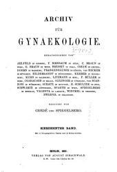 Arch gynakol: Band 17