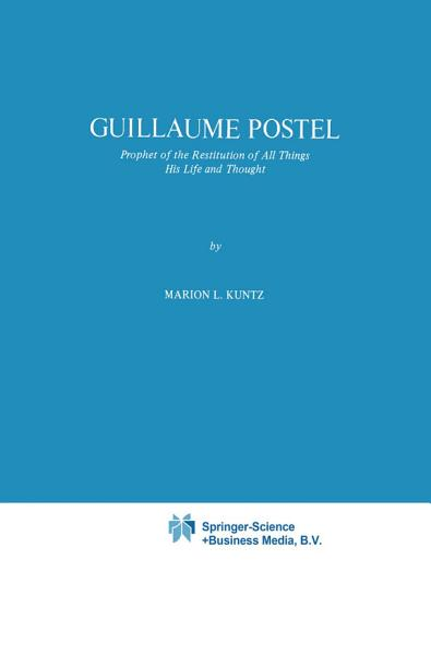Download Guillaume Postel Book