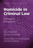 Homicide in Criminal Law