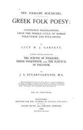 Greek Folk Poesy: Folk prose. The survival of paganism
