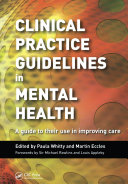 Clinical Practice Guidelines in Mental Health