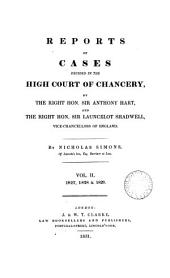 Reports of Cases Decided in the High Court of Chancery: By the Right Hon. Sir John Leach ... [and Others] Vice-chancellors of England. [1826-1852], Volume 16