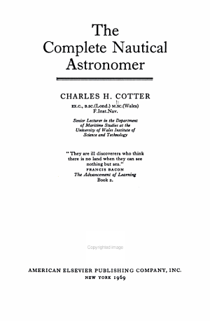 The Complete Nautical Astronomer