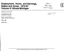 Employment  Hours  and Earnings  States and Areas  1972 87  Illinois PDF