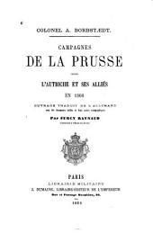 Campagnes de la Prusse contre l'Autriche et ses alliés en 1866