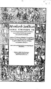 Henrici Helmesii Homiliae de sanctis: ex sacris utriusque testamenti literis concinnatae