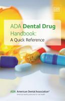 ADA Dental Drug Handbook PDF