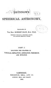 Brünnow's Spherical Astronomy: Part 1