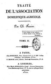 Traité de l'association domestique agricole