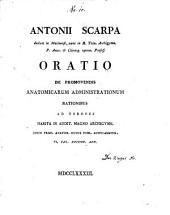 Oratio de promovendis anatomicarum administrationum rationibus