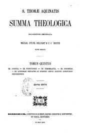 S. Thomae Aquinatis Summa theologica, diligenter emendata, Nicolai, Sylvii, Billuart & C.-J. Drioux notis ornata...