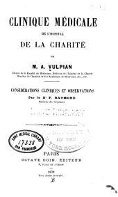 Clinique médicale de l'Hopital de la Charité