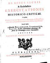 De rebus sacris et ecclesiasticis exercitationes historico-criticae