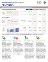 Namibia: Agricultural R&D indicators factsheet