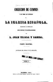 Coleccion de cánones de la iglesia española: Publicada en latin á espensas de nuestros reyes, Volume 5