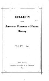 Bulletin of the American Museum of Natural History: Volume 4