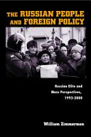The Russian People and Foreign Policy PDF