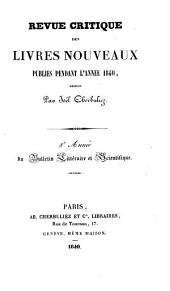 Bulletin littéraire et scientifique: revue critique des livres nouveaux