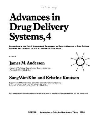 Advances in Drug Delivery Systems  4 PDF