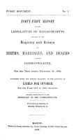 Annual Report of Vital Statistics of Massachusetts PDF
