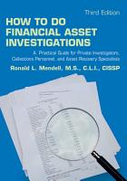 How to Do Financial Asset Investigations PDF