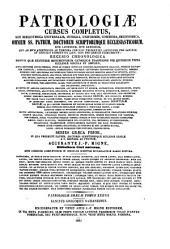 Sancti Patris Nostri Gregorii Theologi, vulgo Nazianzeni, Archiepiscopi Constantinopolitani, Opera quae exstant omnia