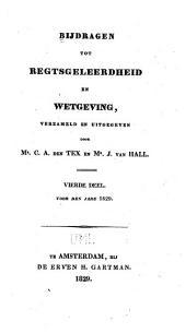 Bijdragen tot regtsgeleerdheid en wetgeving: Deel 4