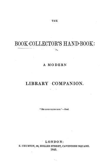 The Book collector s Hand book PDF