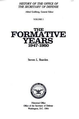 The Formative Years  1947 1950 PDF