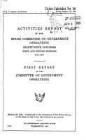 Intermediate Report of the Committee on Government Operations PDF