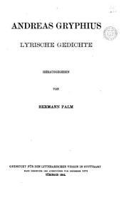 Andreas Gryphius lyrische Gedichte