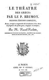 Le théâtre des grecs: Volume3