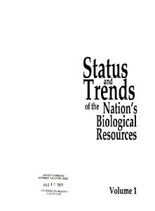 Status and Trends of the Nation s Biological Resources