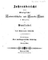 Jahresbericht über die Königliche Landwirthschafts- und Gewerbsschule II. Classe zu Wunsiedel: für das Schuljahr ... 1854/55