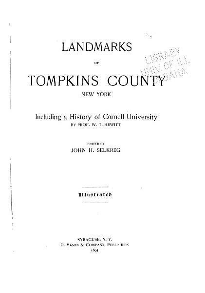 Download Landmarks of Tompkins County  New York Book