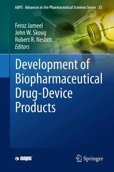 Development of Biopharmaceutical Drug Device Products PDF