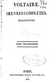Oeuvres complètes: Dialogues, Volume28