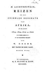 Reizen in het zuidelyk gedeelte van Afrika, in de jaren 1803, 1804, 1805 en 1806: Volume 3