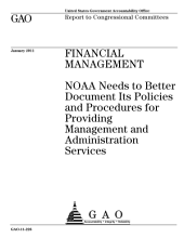 Financial Management: NOAA Needs to Better Document Its Policies and Procedures for Providing Management and Administration Services