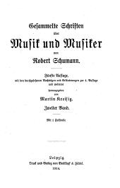 Gesammelte Schriften über Musik und Musiker: Band 2