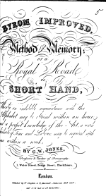Byron Improved. Method against Memory; or, a Royal Road to Short Hand, etc