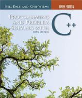 Programming and Problem Solving with C    Brief Edition PDF